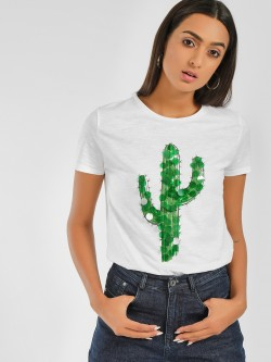 Only Embellished Cactus Print T-Shirt