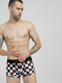 Jack & Jones Checkerboard Lips Print Trunks