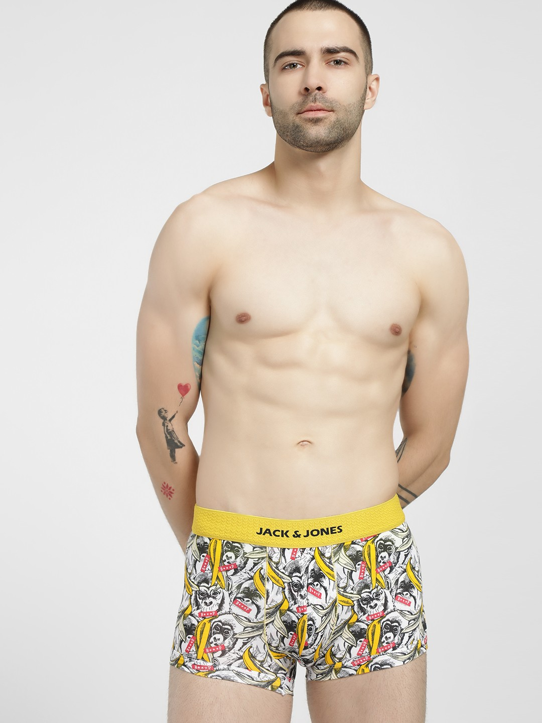 Jack & Jones Multi Monkey Beep Printed Brazilian Trunks 1