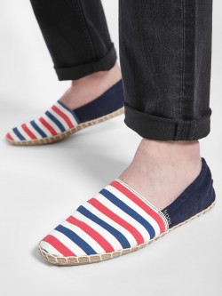 KOOVS Horizontal Stripe Elasticated Espadrilles