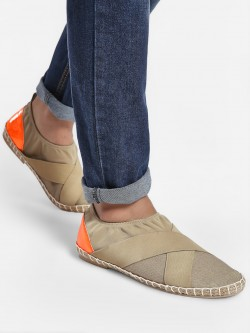 KOOVS Contrast Back Panel Collapsible Espadrilles