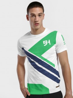 Fighting Fame Geometric Rubber Print T-Shirt