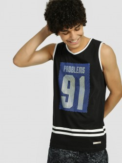 Fighting Fame Problems 91 Print Varsity Vest