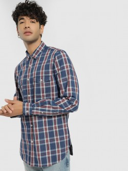Lee Cooper Multi-Check Long Sleeve Shirt