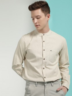 Lee Cooper Khadi Grandad Collar Shirt