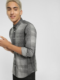 Lee Cooper Abstract Check Casual Shirt