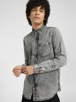Lee Cooper Bleach Wash Casual Shirt