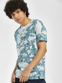 Lee Cooper Washed Camo Print T-Shirt