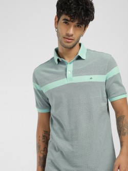 Lee Cooper Contrast Woven Polo Shirt