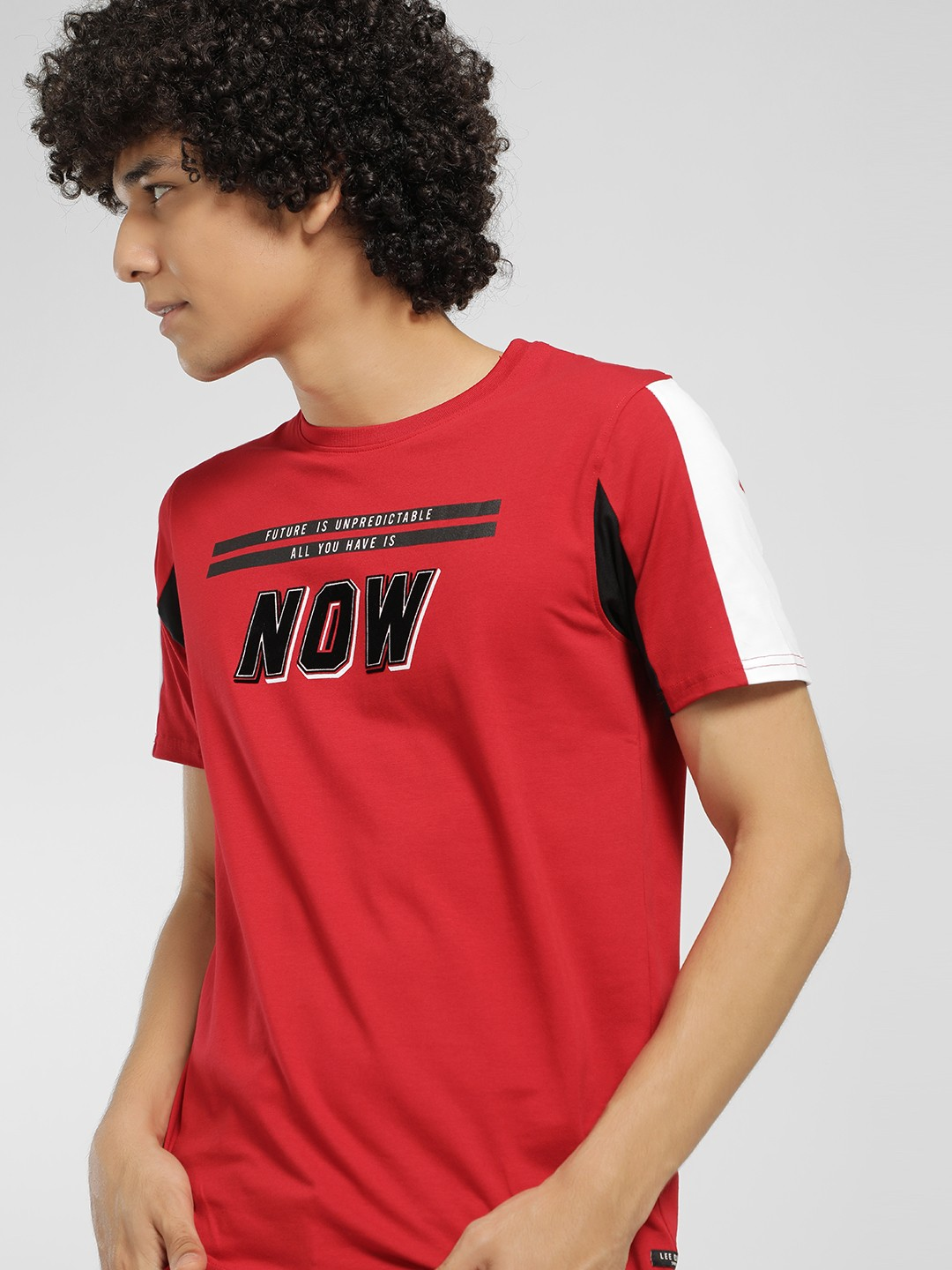 Lee Cooper Red Slogan Print T-Shirt 1