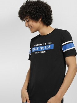 Lee Cooper Contrast Slogan Placement Print T-Shirt