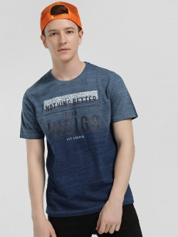 Lee Cooper Round Neck Patched Slogan T-Shirt