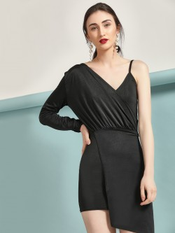 Lasula One Shoulder Asymmetric Dress