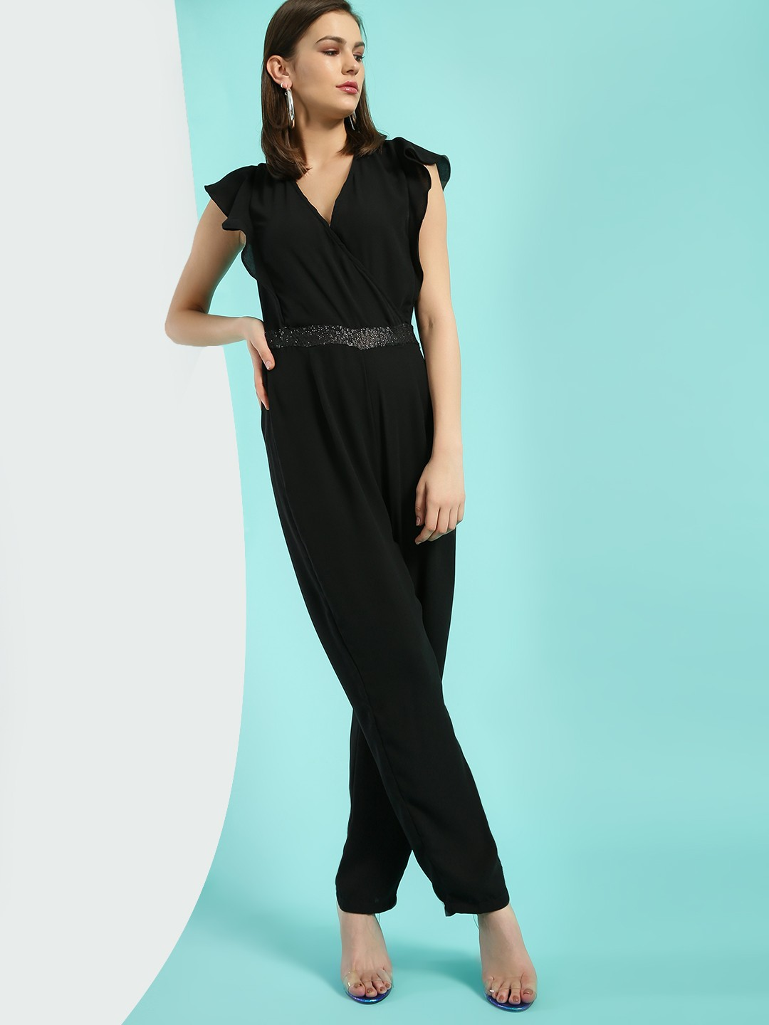 Oliv Black Sequins Detail Jumpsuit 1