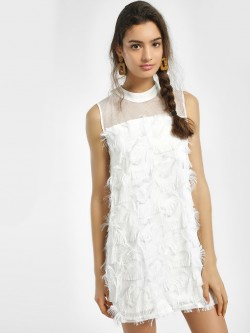 JJ's Fairyland Textured Ruffle Shift Dress