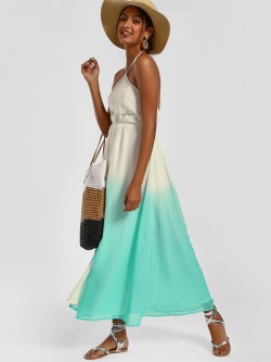 MIWAY Ombre Halter Neck Maxi Dress