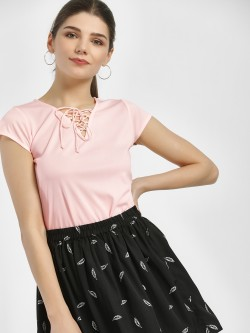 MIWAY Front Tie-Up Blouse