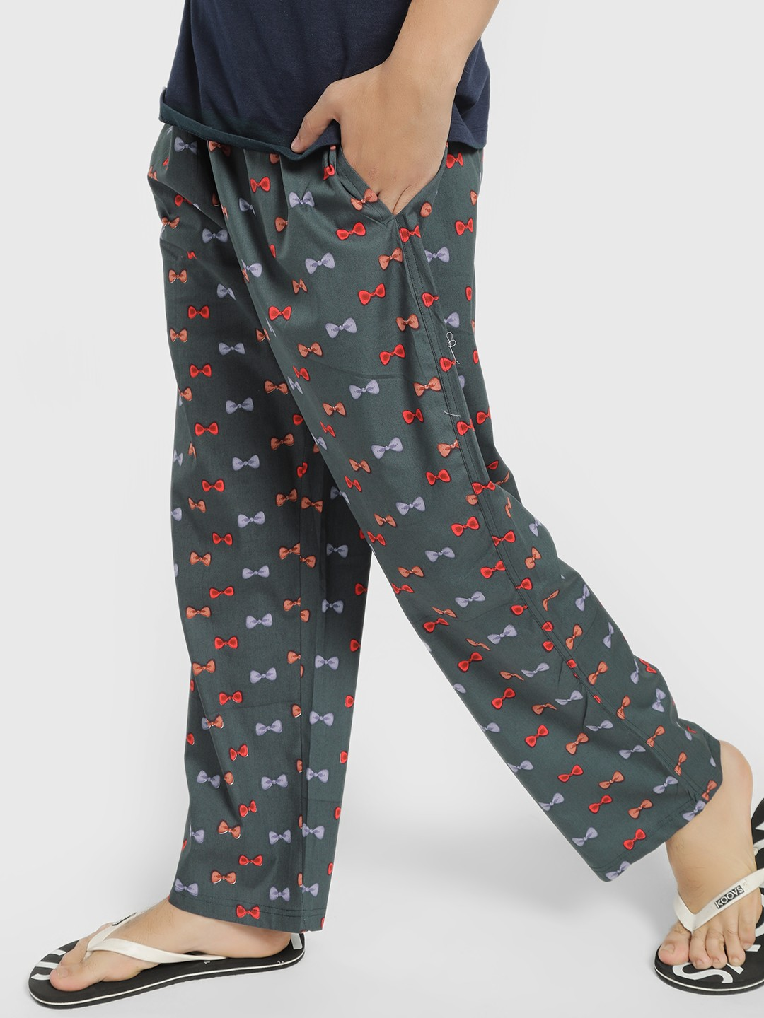 SMUGGLERZ Black Bow Print Lounge Pants 1