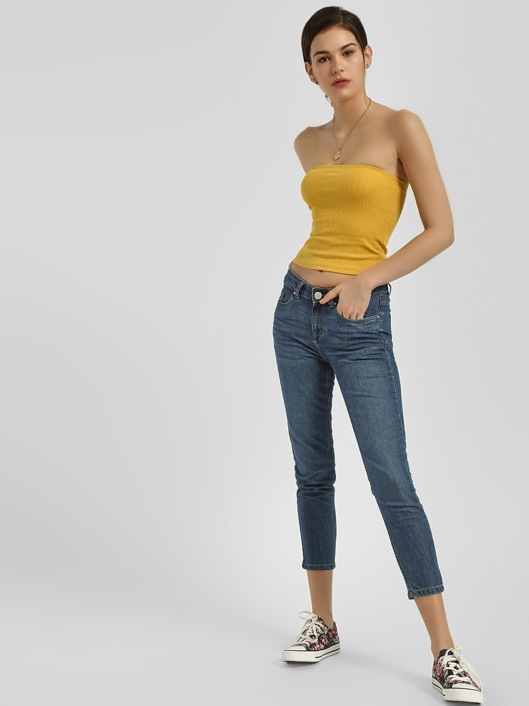 Blue Saint Blue Basic Cropped Slim Jeans 1