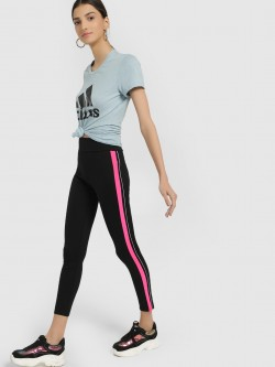KOOVS Contrast Side Stripe Leggings