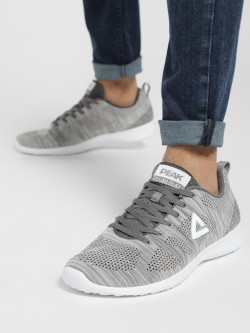 Peak Mesh Two-Tone Knit Running Shoes