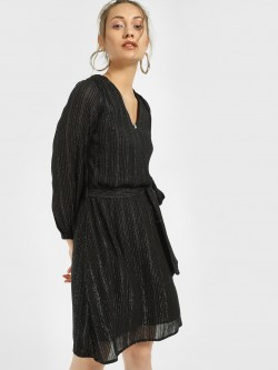 Miaminx Shimmer Wrap Shift Dress