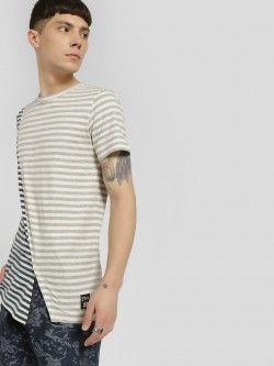 Kultprit Mix Stripe Cut & Sew T-Shirt