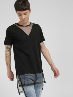 Kultprit Mesh Panel Short Sleeve T-Shirt
