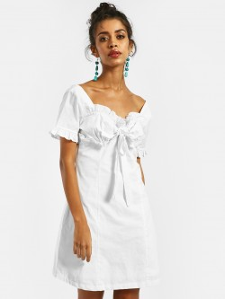 KOOVS Ruffled Bow Shift Dress
