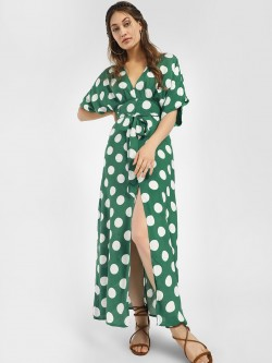 Glamorous Polka Dot Print Maxi Dress