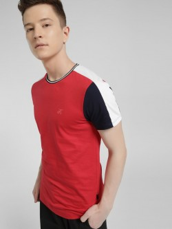 KOOVS Colour Block Muscle Fit T-Shirt