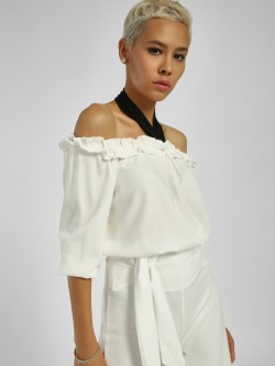 Femella Ruffled Off-Shoulder Blouse