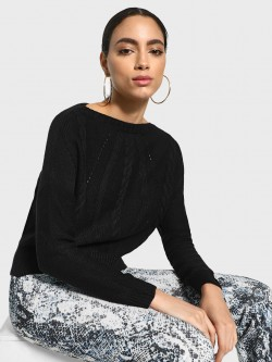 Akiva Cable Knit Boxy Pullover