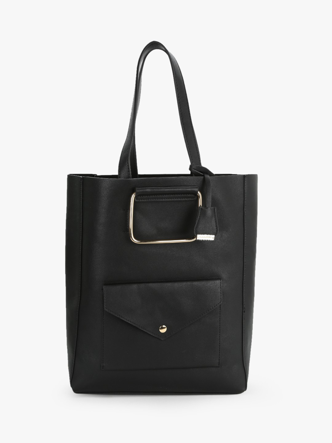 Glamorous Black Structured Tote Bag 1