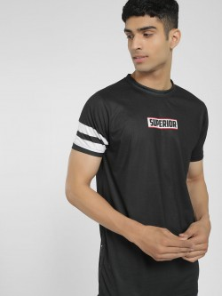 Tiktauli Superior Placement Print Longline T-Shirt