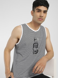 Tiktauli Stripe Text Placement Print Vest