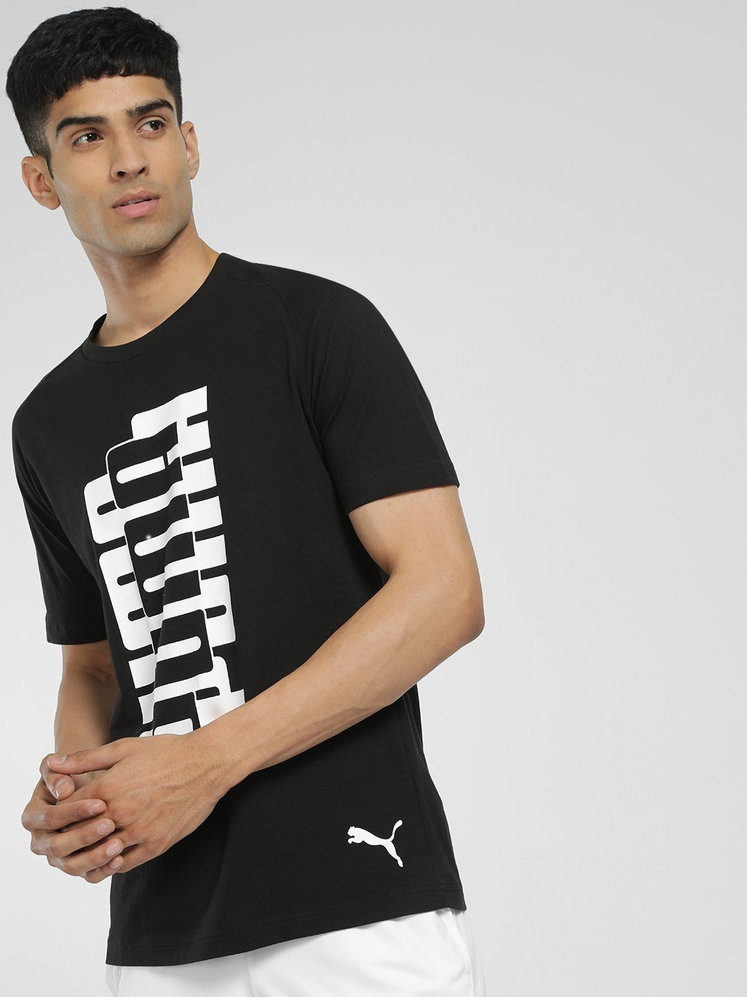 Puma Black Placement Print T-Shirt 1