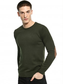 Akiva Suede Elbow Patch Pullover