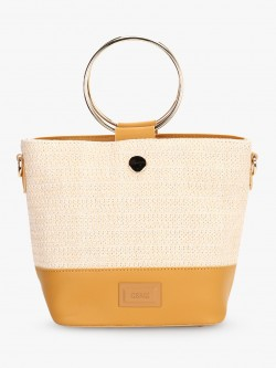 Ceriz O-Ring Metal Handle Handbag