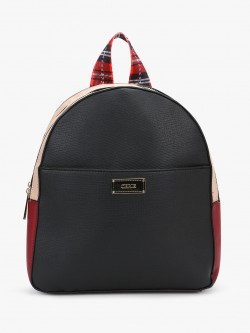 Ceriz Colour Block Structured Backpack