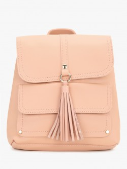 People Three Flap Tassel Detail Backpack