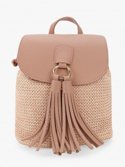People Big Tassel Woven Backpack