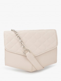 People Triangle Base Quilted Sling Bag