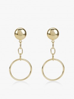 Zero Kaata Drop Down Hoop Earrings