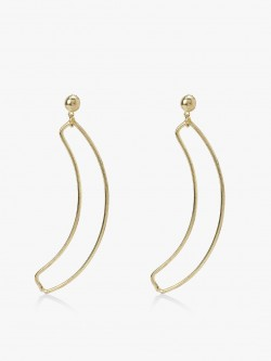 Zero Kaata Golden Banana Leaf Earrings