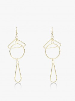 Zero Kaata Geometric Drop Down Earrings