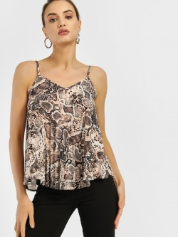 New Look Snake Print Swing Cami Top