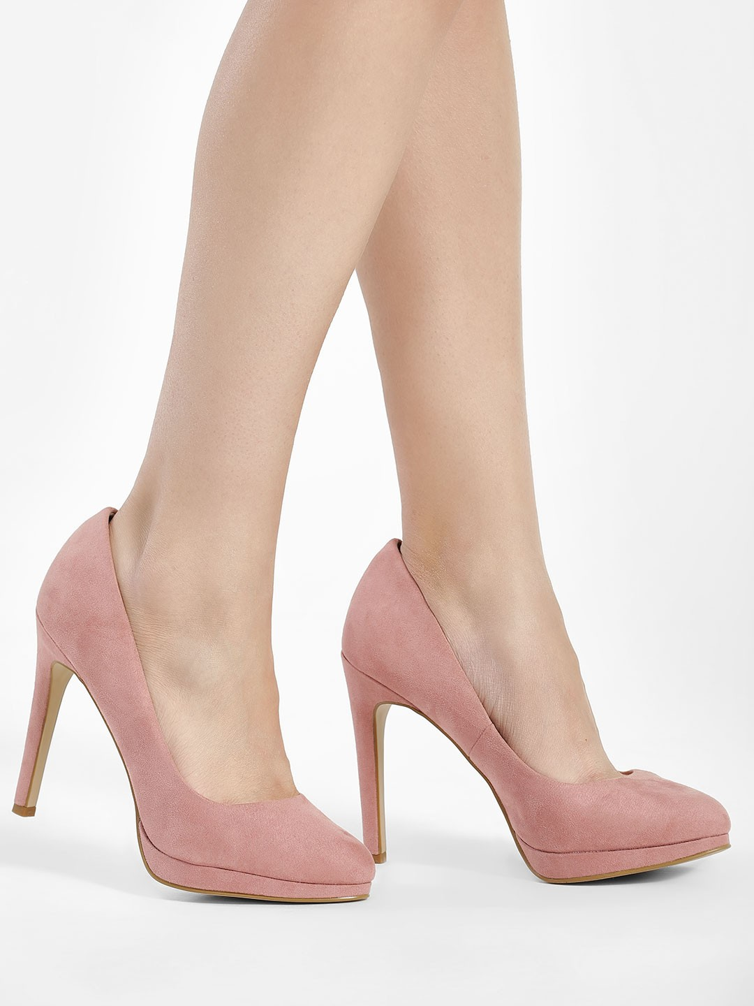 New Look Pink Suede Pumps 1
