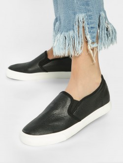 People Crocskin Contrast Sole Plimsolls
