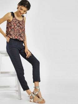 People Overlap Paisley Print Jumpsuit